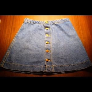 American Apparel Jean Skirt